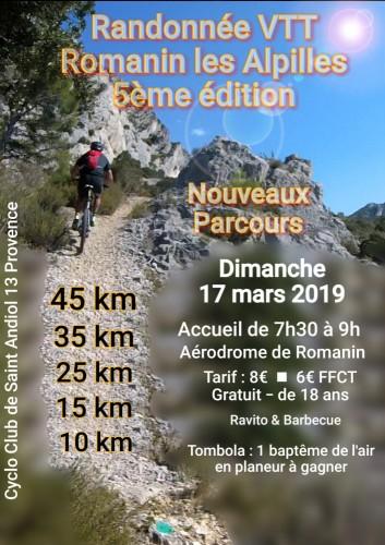 Randonnée VTT Romanin Les Alpilles 5ème édition