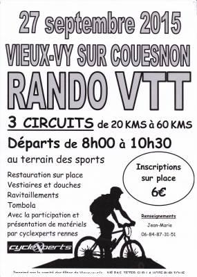 Rando VTT à Vieux-vy Sur Couesnon